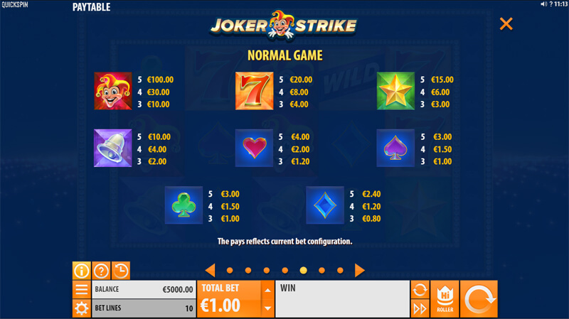 Изображение игрового автомата Joker Strike 3