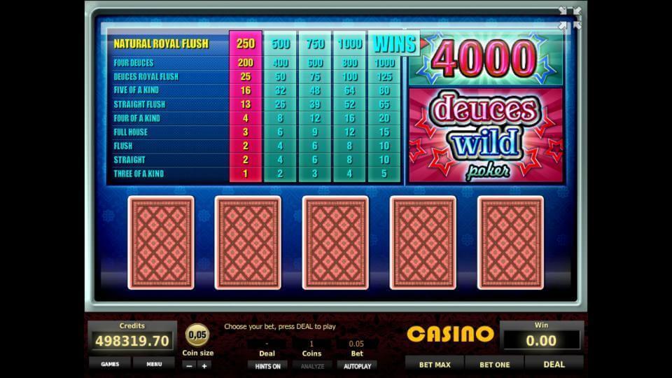 Изображение игрового автомата Deuces Wild Poker 1