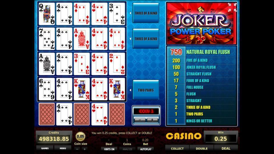 Изображение игрового автомата Joker 4-Hand Poker 2