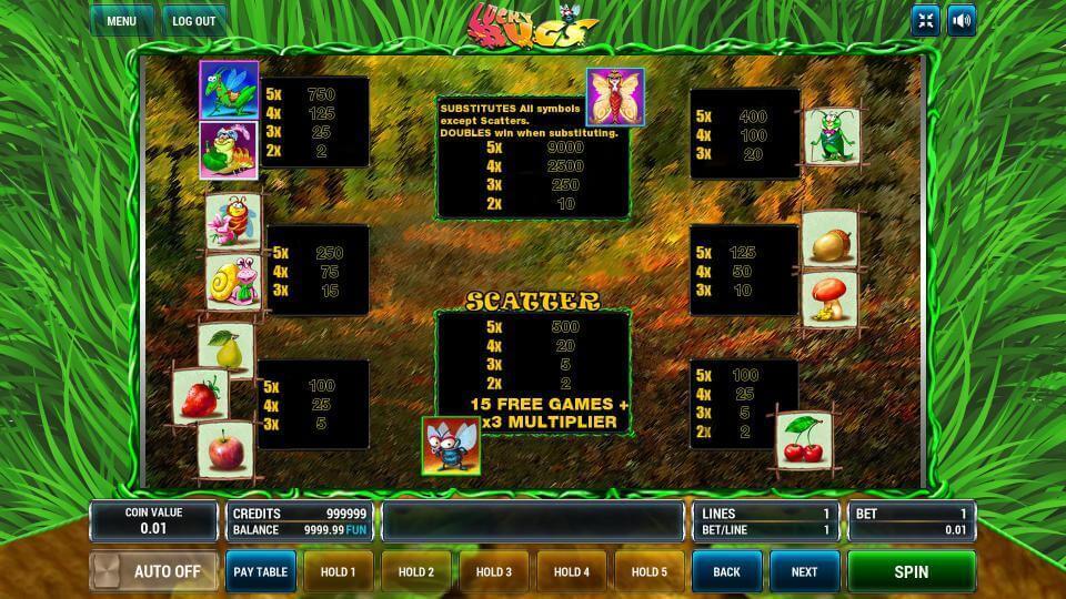 Изображение игрового автомата Lucky Bugs 3