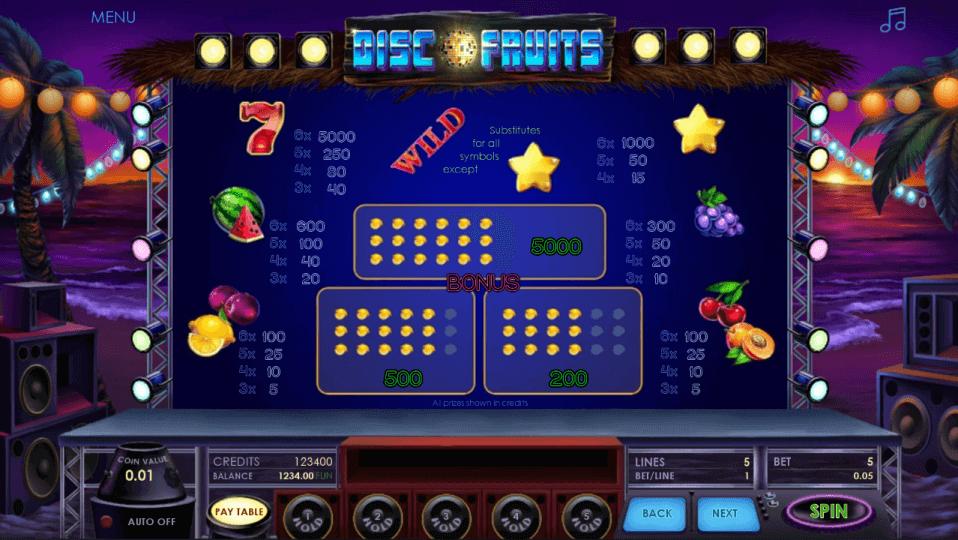 Изображение игрового автомата Disco Fruits 3